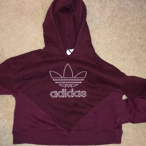 WOMENS SMALL ADIDAS CROPPED HOODIE